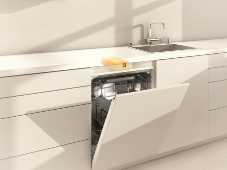 Push-to-open Blum Integrated dishwasher